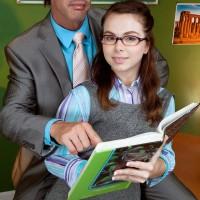 Hardly legal yr elder schoolgirl with crimson hair Jennifer Matthews gets undressed by her tutor