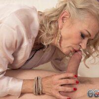 Stunning elder broad Beata gives ball eating oral pleasure after seducing a junior man