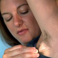 First-timer women put their unshaven underarms and all natural snatches on flash