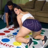 Chubby Latina Yazmina Melendez flaunting hefty ass while riding of top of cock