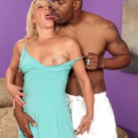 Beautiful grannie Andi Roxxx has her vagina sucked out by her young black lover