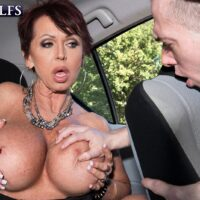 Fancy experienced dame Gina Milano entices a junior man with her enormous breasts