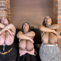 Chubby Latina amateur Isa Gomez and two of her best friends release their enormous titties