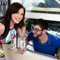 60 Plus MILF Cashmere gets ravaged by a younger stud after seducing him thru a window