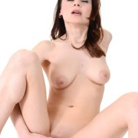 All natural ginger-haired chick Victoria Travel masturbates with a sex toy after stripping naked