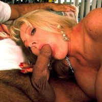 Massive jugged fair-haired Kayla Kleevage deepthroats infamous XXX movie starlet Ron Jeremy's cock before sex