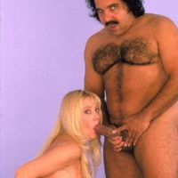 Big jugged fair-haired Kayla Kleevage bj's infamous porno starlet Ron Jeremy's cock before sex