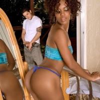 Black MILF Envy Kenya having her butt slurped and giving blowjobs before anal sex