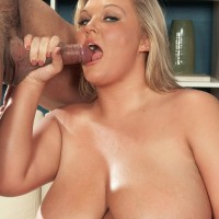 Fair-haired BIG HOT LADY Anna Kay tit throttles her dude after oral and vaginal sex takes place
