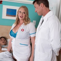 Fair-haired nurse Cameron Skye gets caught providing patient a handjob by a doctor