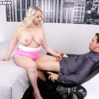Huge-chested sandy-haired Bambi Bella exchanges oral job with her guy before sexual intercourse