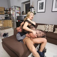 Huge-chested blond Vittoria Risi taking butt-fucking from huge boner after bung crevice dildoing