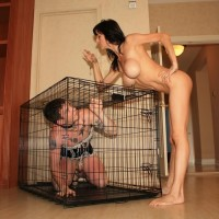 Big-chested mistress Alexis Fake has her sissy pleasure her in many ways and studs as well