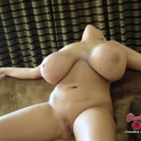 Elderly platinum golden-haired Claudia Marie wets her large titties while taking a shower