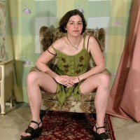 European first timer Gypsy demonstrating pierced hard nips, wooly underarms and hairy pubic hair