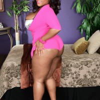 Over weight black female Ms Tasty smothers a dude with her huge fun bags after showing off her ass