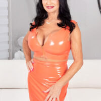 Grandma pornostar Rita Daniels has her slit and butt-hole played before anal sex takes place