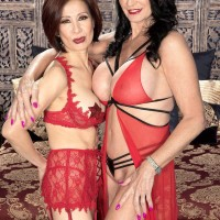 Alluring aged dolls Rita Daniels and Kim Anh have a three-way with younger man