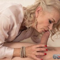 Marvelous aged broad Beata gives a ball eating oral sex after seducing a junior guy