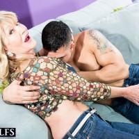 Jaw-dropping elderly broad Kendall Rex letting humungous tits free while seducing junior man