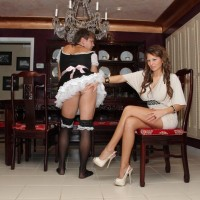 Phat gf Alison Star boinks her sissy with a strapon after eyeing him blow dick