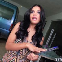Latina teenage Apolonia Lapiedra gets on top a guy's penis for money