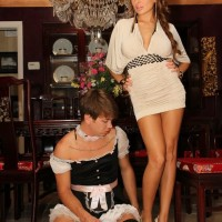 Long-limbed wife Alison Starlet having cooter sucked by cuckold while getting doggie fucked