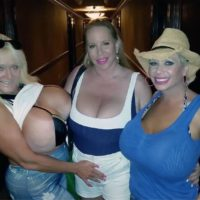Massive boobed blonde Claudia Marie took hold of in candid activity and having lesbo sex