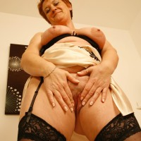 experienced ginger-haired gf whips out enormous all-natural breasts after flashing no panty upskirt