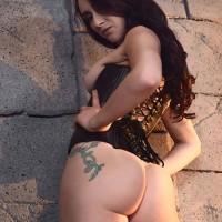 MILF XXX video star Mandy Muse taking ass fuckhole boinking in black mesh pantyhose