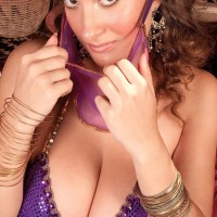 MILF pornostar Valory Irene posing temptingly clothed in harem female uniform