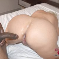 Monster-sized tittted platinum fair-haired Claudia Marie partakes in gay-for-pay and lezzie sex
