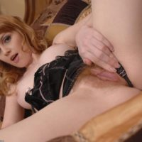 All-natural redhead shows her cock-squeezing ass preceding to finger spreading her wooly honeypot up close