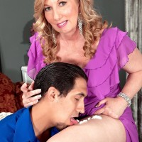 Over Fifty MILF Summer Sands having erect nipples blown tidy of flog testicle tonic