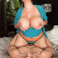 Plumper housewife Paige Turner tempts younger man with huge tits to cuckold hubby's dismay