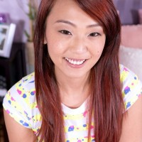 Youthfull Japanese amateur Layla Mynxxx unleashing small fun bags before delivering oral job
